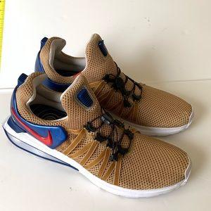 Nike gravity Shox metallic gold